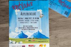 A5 Flyer & Ticket für Gönneranlass